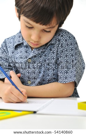 School activity, happiness and smartness - stock photo