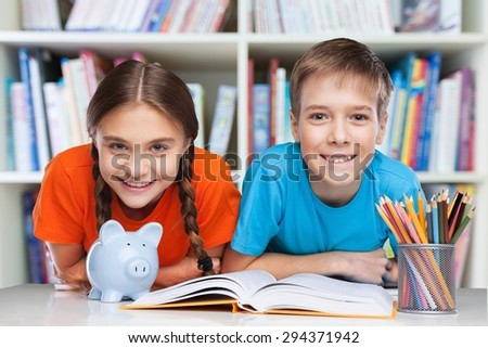 School, back, classroom. - stock photo