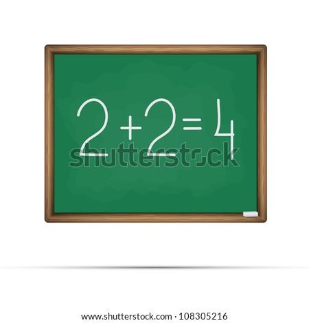 School board vector illustration - stock photo