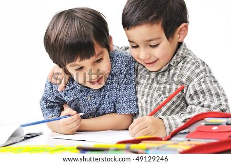 school boys - stock photo