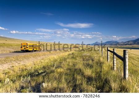 School Bus in Idaho - stock photo