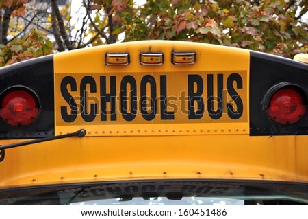 School bus sign - stock photo