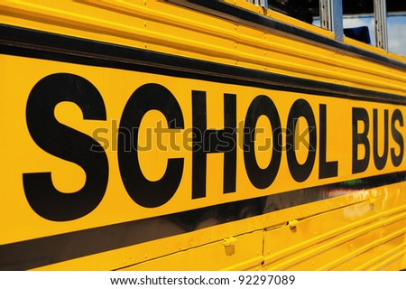 school bus sign detail - stock photo