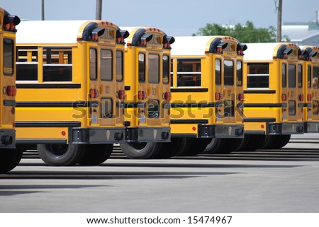 school buses - stock photo