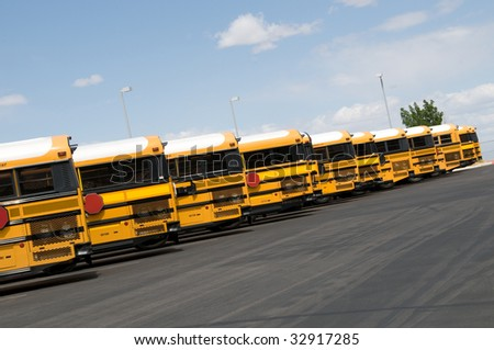 School buses - stock photo