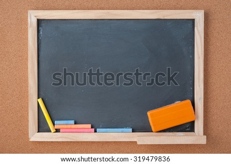 School Chalkboard for background.copy space - stock photo