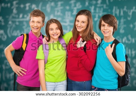 School, child, schoolchild. - stock photo