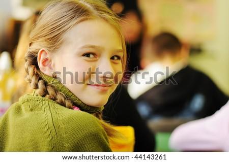 school  girl - stock photo