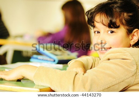 school  girl - stock photo
