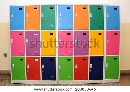 School lockers  - stock photo
