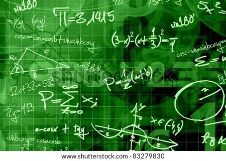 school math background - stock photo