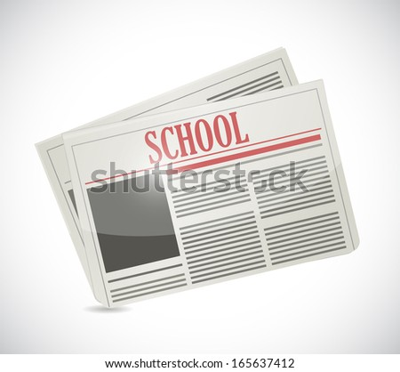 school newspaper illustration design over a white background