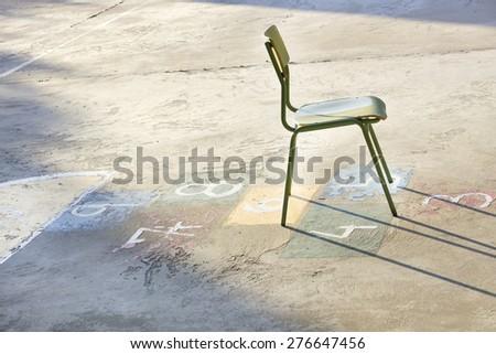 School playground - stock photo