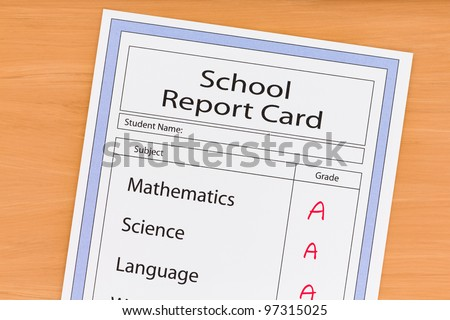 School Report Card showing all A Grades