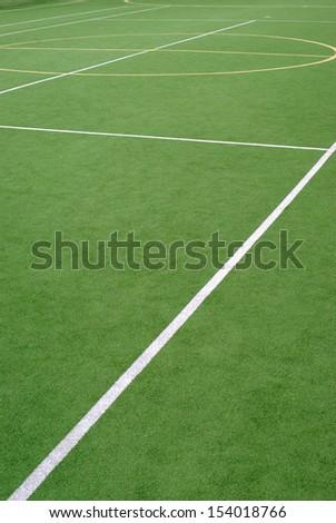 School sports field - stock photo