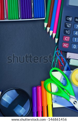 school supplies to the school board with space for text