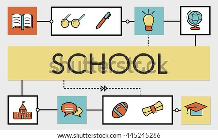 School Teaching Study Literacy Education Concept - stock photo