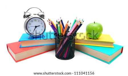 School tools. On a white background.