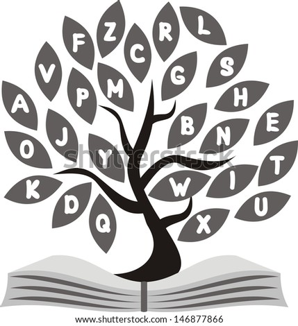 School tree illustration - stock photo