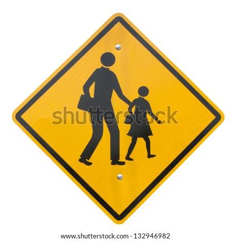 School warning sign isolated - stock photo