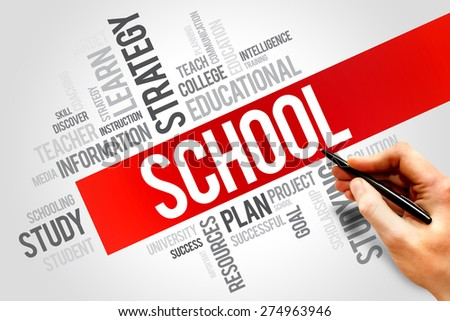 SCHOOL word cloud, education concept - stock photo
