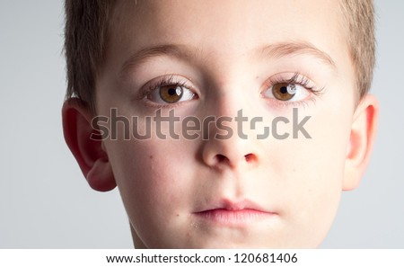 Schoolboy close-up - stock photo