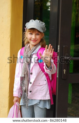 Child Waving Bye Stock Images Royalty Free Images