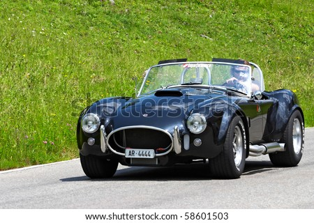 "SCHWAEGALP - JUNE 27: The 7th International ""Oldtimer meeting"" in Schwaegalp, Switzerland on June 27, 2010 - stock photo"