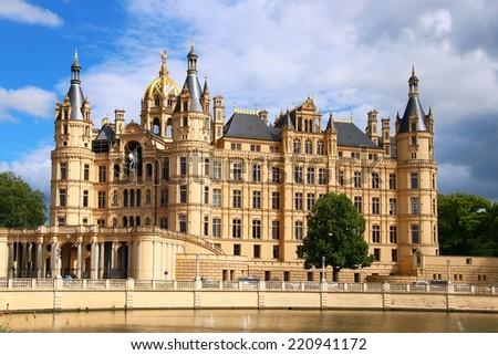 Schwerin Castle (Schweriner Schloss), Germany - stock photo