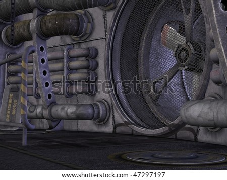 Sci-Fi Background - stock photo
