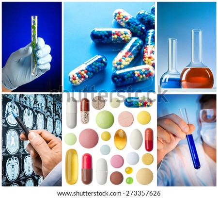 Science and Medical Collage - stock photo