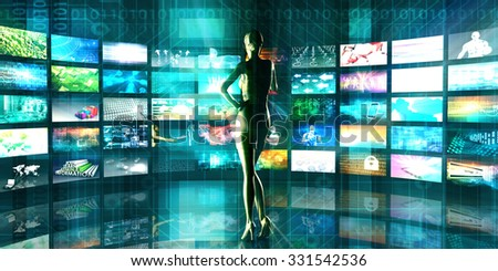 Science and Technology Merging into an Abstract Art - stock photo