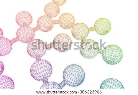 Science Atom and Chemical Formula as Concept - stock photo