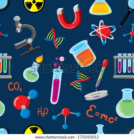 science background - stock photo