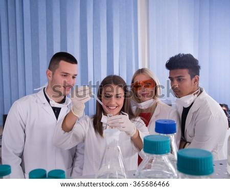 science, chemistry, biology - stock photo