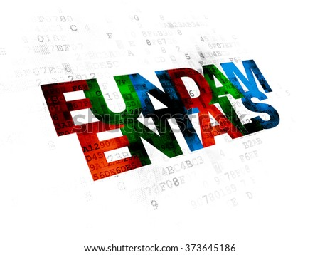 Science concept: Fundamentals on Digital background - stock photo