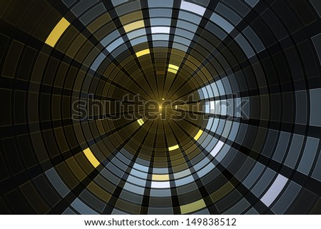 Science fiction futuristic background - Space travel - Teleport machine