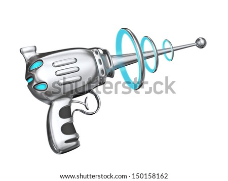 Science fiction gun - isolated on white - stock photo