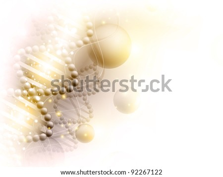 science golden background with DNA theme and copyspace for your text - stock photo