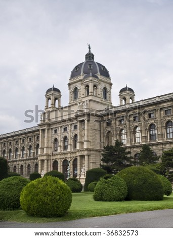 Science museum in the imperial city of Vienna, Austria - stock photo