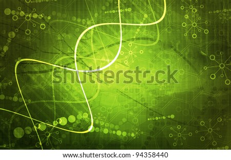 Science Research background - stock photo