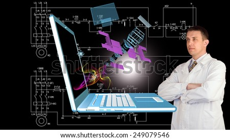 Science Research Cosmos - stock photo