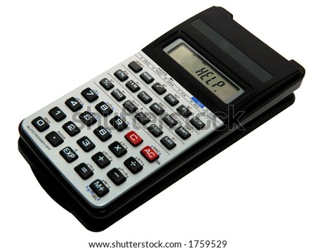 scientific calculator with help on the screen