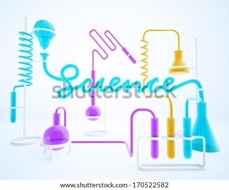 scientific chemical laboratory science typography - stock photo