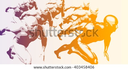 Scientific Progress and Discovery of Information By Team 3D Illustration Render - stock photo