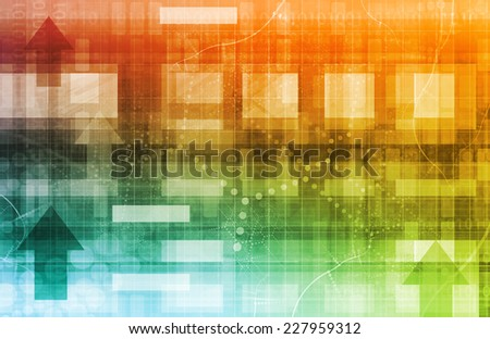 Scientific Research Concept as Futuristic Technology Abstract - stock photo