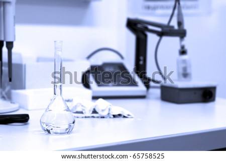 Scientific research concept - in the lab - stock photo
