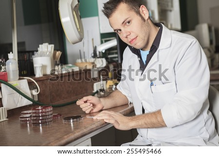 scientist at work in a laboratory