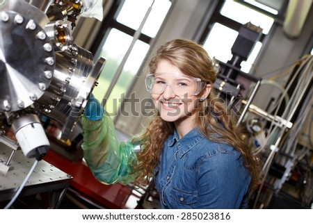 scientist conducting research in a lab environment - stock photo