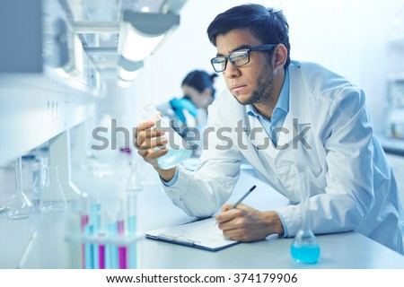 Scientist working - stock photo